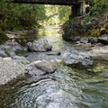 Swimming holes below Ferview Group Campground.- Fernview Group Campground