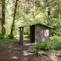 Vault toilets at the campground.- Fernview Group Campground