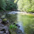 South Santiam River below Fernview Group Campground.- Fernview Swimming Holes