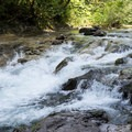 Rapids above the pools.- Fernview Swimming Holes