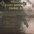 The day use fishing area.- Yukwah Campground