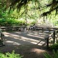 The fishing platform at Yukwah Campground.- Yukwah Campground