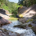 Sharps Creek from the upper pool.- Sharps Creek Recreation Area Swimming Hole