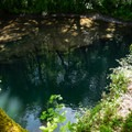 The lower pool at Sharps Creek is deep and clear.- Sharps Creek Recreation Area Swimming Hole