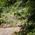 A gradual walkway leads down to the lower pool.- Sharps Creek Recreation Area Swimming Hole