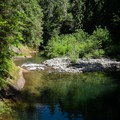 The lower pool at Sharps Creek.- Sharps Creek Recreation Area Swimming Hole