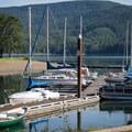 The marina at Baker Bay.- Baker Bay Park, Dorena Reservoir