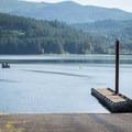 The marina and boat ramp at Baker Bay.- Baker Bay Park, Dorena Reservoir