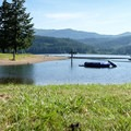 The designated swimming area in Baker Bay is a good choice for kids.- Baker Bay Park, Dorena Reservoir