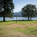 Volleyball is available.- Baker Bay Park, Dorena Reservoir