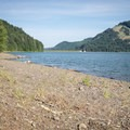 The shore outside of the designated swimming area is still a great spot to swim.- Baker Bay Park, Dorena Reservoir
