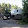 The camp host at Baker Bay Campground.- Baker Bay Campground, Dorena Reservoir
