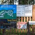 The entrance to Baker Bay Campground.- Baker Bay Campground, Dorena Reservoir