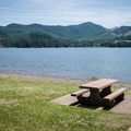 Plenty of picnic tables at Lakeside Park on Cottage Grove Lake.- Lakeside Park, Cottage Grove Lake