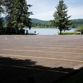 A large parking area for boaters at the ramp.- Wilson Creek Park, Cottage Grove Lake