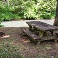 Picnic tables at Riverside Park.- Riverside Park, Cottage Grove Lake