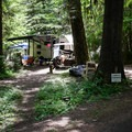 Campground host in Salmon Creek Falls Campground.- Salmon Creek Falls Campground