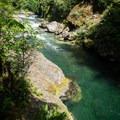 Salmon Creek upstream from the falls.- Salmon Creek Falls Swimming Holes