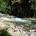 Rapids near the upstream end of the campground.- Salmon Creek Falls Swimming Holes