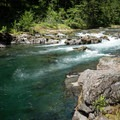 The pool just below the rapid.- North Fork Middle Fork Willamette Swimming Hole 1.4