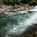 The rapids separating the upper and lower pools.- North Fork Middle Fork Willamette Swimming Hole 3.5