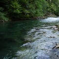The swimming hole at 5.5 miles beyond the covered bridge in Westfir. North Fork Middle Fork Willamette River.- North Fork Middle Fork Willamette Swimming Hole 5.5