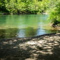 The beach near the camping site.- North Fork Middle Fork Willamette Swimming Hole 11
