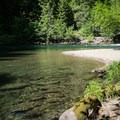 A small beach at the lower pool.- North Fork Middle Fork Willamette Swimming Hole 11