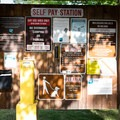 The self-pay station.- Hendricks Bridge Park