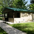 Restrooms at Hendricks Bridge Park.- Hendricks Bridge Park