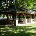 A picnic shelter can be reserved.- Hendricks Bridge Park