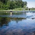 Fishing from Hendricks Bridge Park.- Hendricks Bridge Park