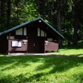 Restrooms near the group site.- Shotgun Creek Recreation Area