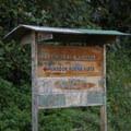 Road signage to Mojanda Lake.- Lagunas de Mojanda