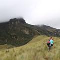Hiking at Mojanda Lake.- Lagunas de Mojanda