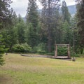 An amphitheater in Whitetail Campground.- Whitetail Campground