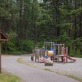A playground in Whitetail Campground.- Whitetail Campground