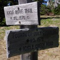 Trail junction at the ridge. - Icicle Ridge via Fourth of July Creek Trail