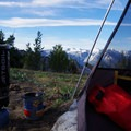 Morning coffee doesn't get any better than this. - Icicle Ridge via Fourth of July Creek Trail
