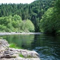 Deep water for big jumps on the Molalla River.- Day Use Site 4: Molalla River Swimming