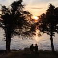 There is an abundance of benches from which to watch the beautiful sunsets.- San Juan County Day Park + Campground