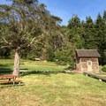 Historic Brann Cabin behind campsite #13.- San Juan County Day Park + Campground