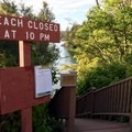 Steps down to the north beach swimming area.- San Juan County Day Park + Campground