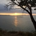 Sunset view from the Short Bluff Walking Path.- San Juan County Day Park + Campground