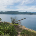 The view out across Lake Coeur d'Alene on the loop trail around Tubbs Hill.- Tubbs Hill Hiking Trails