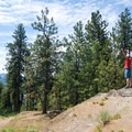 Celebrating an easy summit hike at Tubbs Hill.- Tubbs Hill Hiking Trails