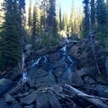 Unnamed Waterfall on the East Lostine River at Low Flow.- Mirror Lake via the East Lostine River Trail