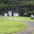 Restroom facilities at Yachats State Park.- Yachats State Park