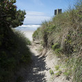 Access to Wakonda Beach from Beachside State Recreation Site's day use area.- Beachside State Recreation Site Campground