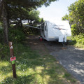 Beachside campsite at Beachside State Recreation Site Campground.- Beachside State Recreation Site Campground